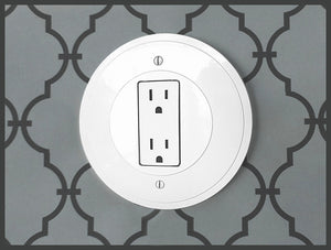 Round Eco-Friendly Outlet/Switch Plate Cover 3 Pack
