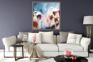 Whirlwind Of Thoughts- Colourful Expressionist Art Print