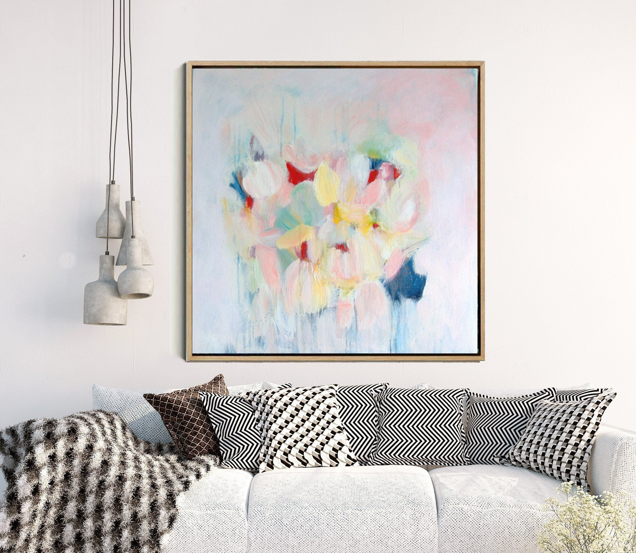 Summer Begins - Floral Abstract Print