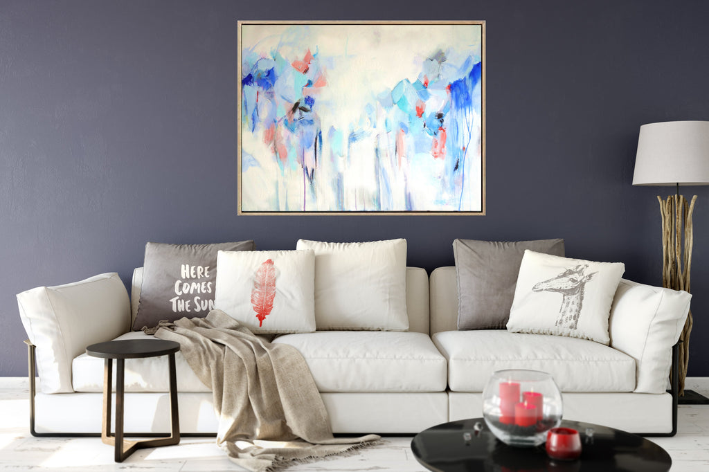 Blue Heaven - Blue Abstract Print