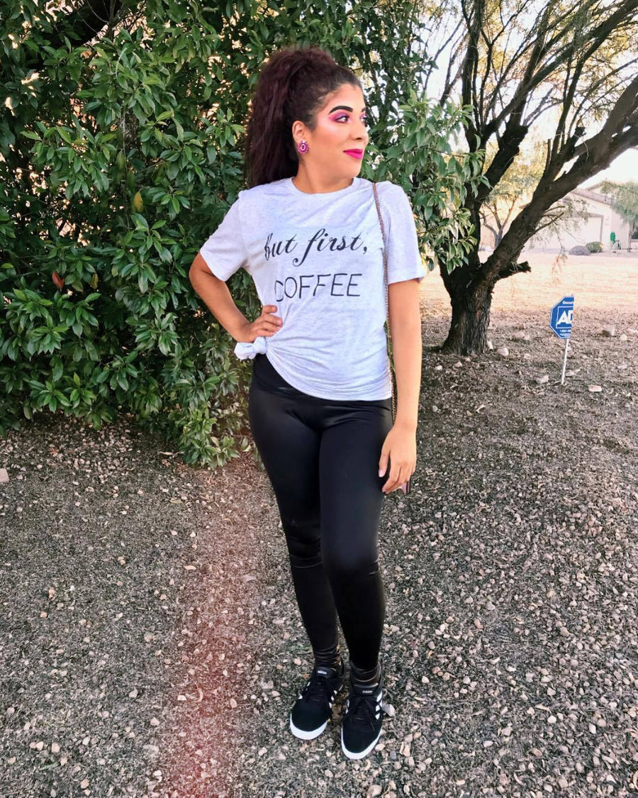 But First, Coffee relaxed fit soft tee