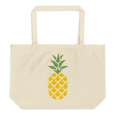 Large Organic Pineapple tote bag