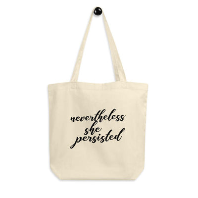 Nevertheless She Persisted Cotton Tote Bag
