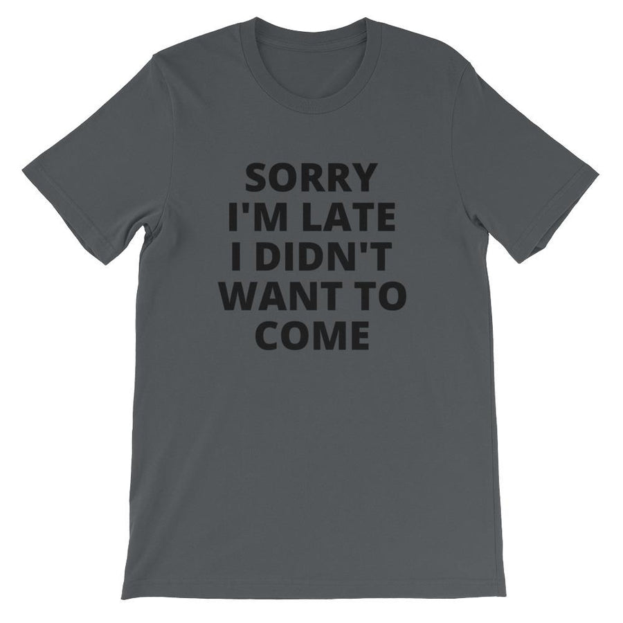 "Pancakes and Wine ""Sorry I'm Late"" relaxed fit tee"