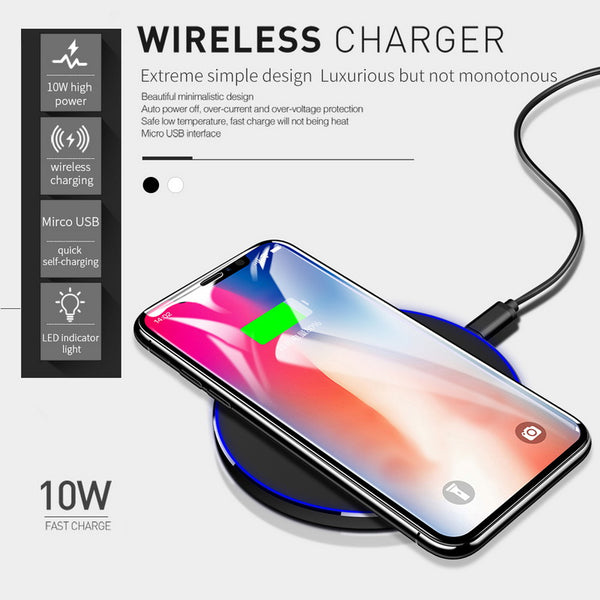 Mcdodo Qi Wireless Charger For iPhone 8 X 10 For Samsung Galaxy S8
