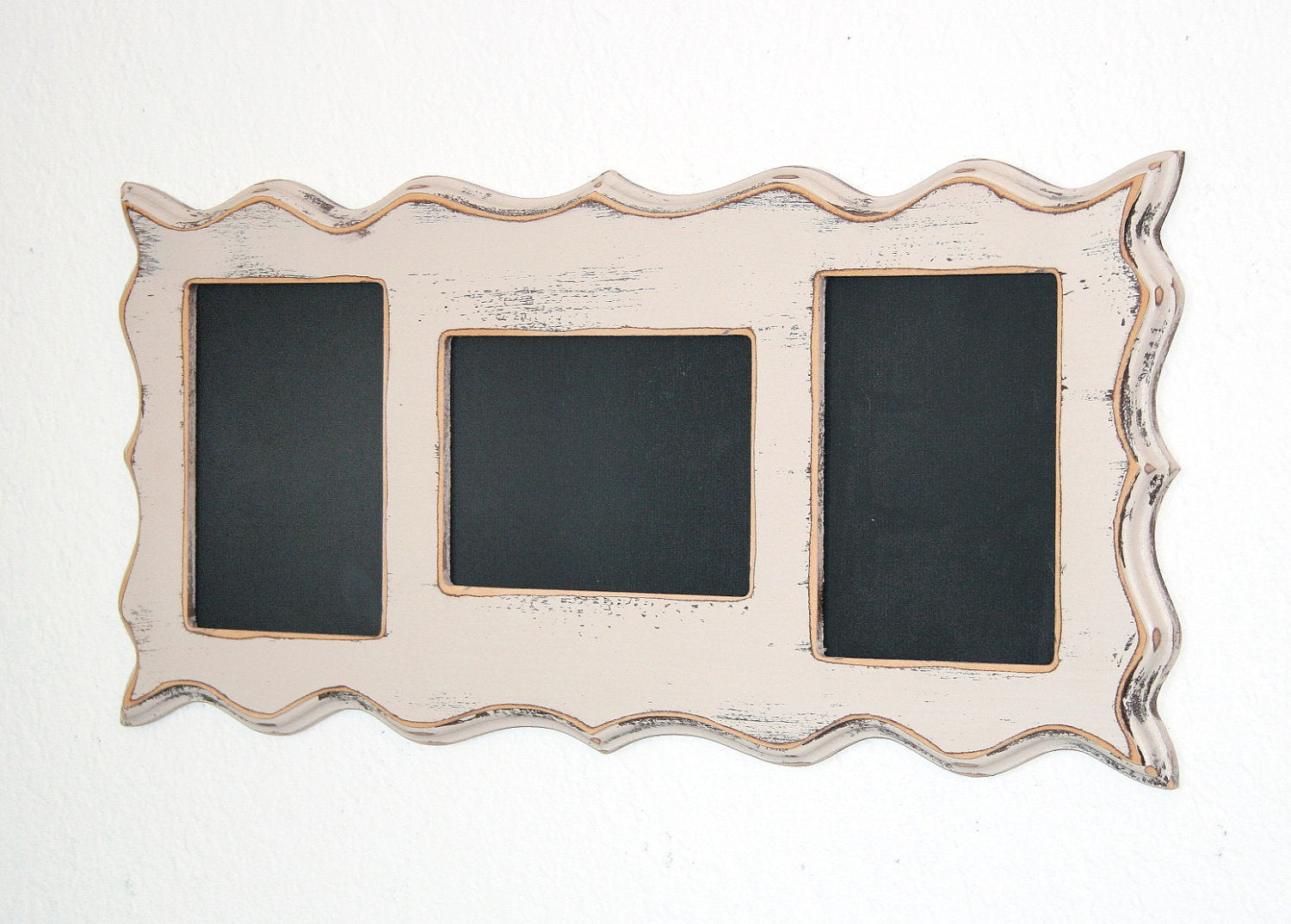 Collage Whimsical Picture Frame Multi Opening 3 4x6 Or 5x7 Openings