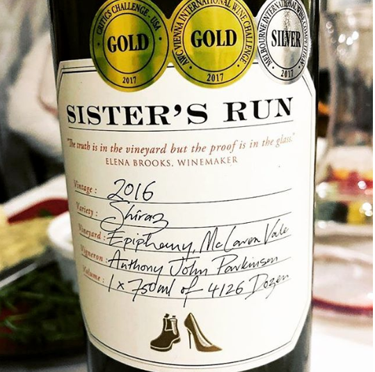 Sister's Run Epiphany Shiraz 2016