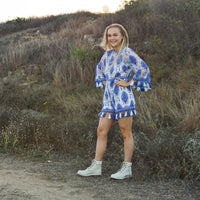 Blue Bell Sleeve Playsuit