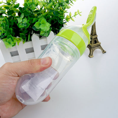 Mess-Free Baby Squeeze & Feed Bottle with Spoon