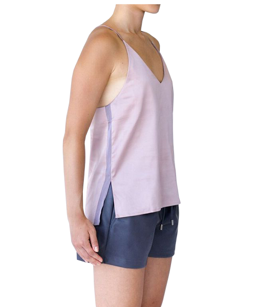 BELLE STRIPED CAMI - MAUVE