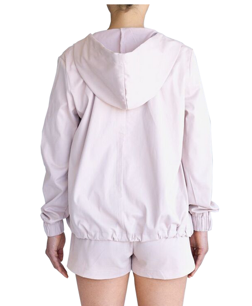 JESSICA DOUBLE ZIP JACKET - PALE PINK