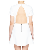 KRISTA OPEN BACK DRESS - WHITE