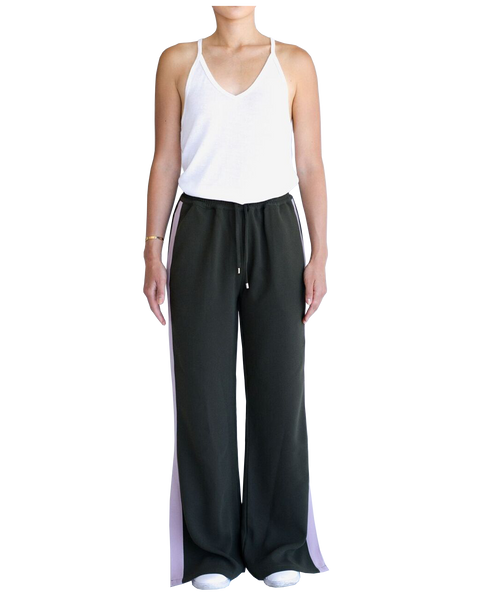 KATE WIDE LEG PANT - KHAKI