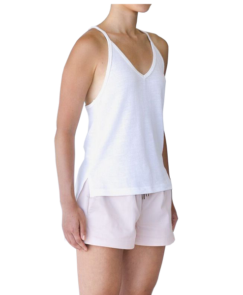ATHENA V NECK CAMI - WHITE