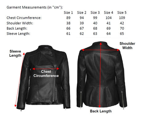 Connor Jacket Measurement Chart