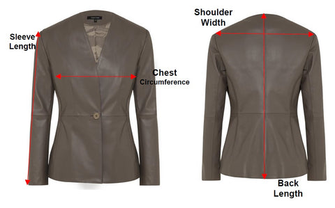 Grace Jacket Measurement Explanation Chart