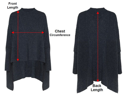 St Kilda Knit Measurement Chart