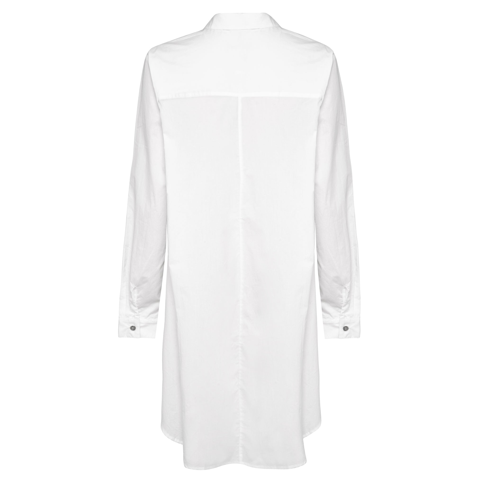 Abey Long Line Shirt - White