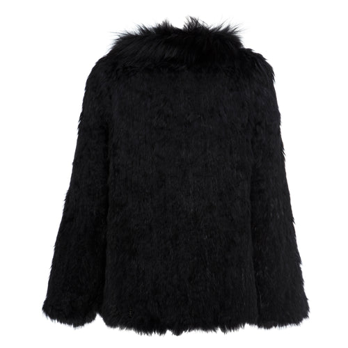 Aubree Fur Jacket - Jet Black