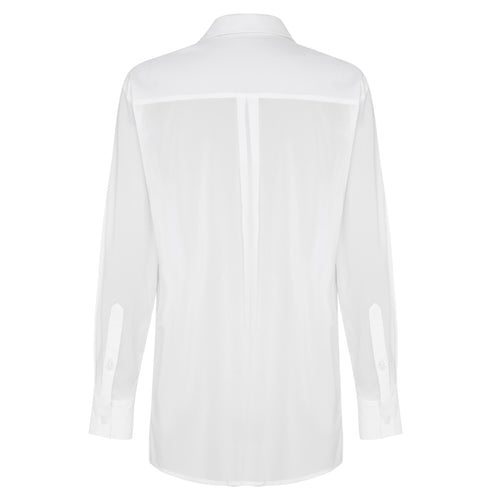 Cascading Meadow Silk Shirt - Chalk White