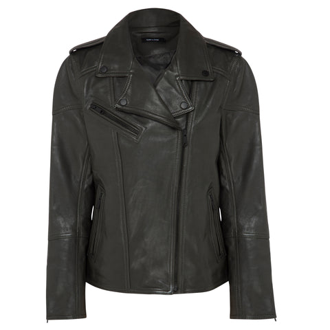 Fulton Leather Jacket - Slate