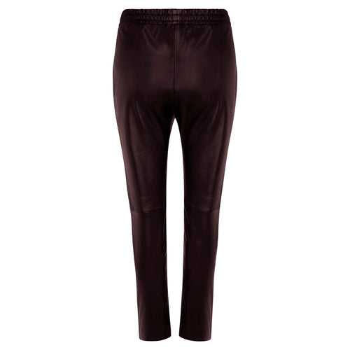 Dianne Leather Pant - Chocolate