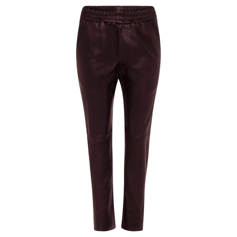 Dianne Leather Pant - Jet Black