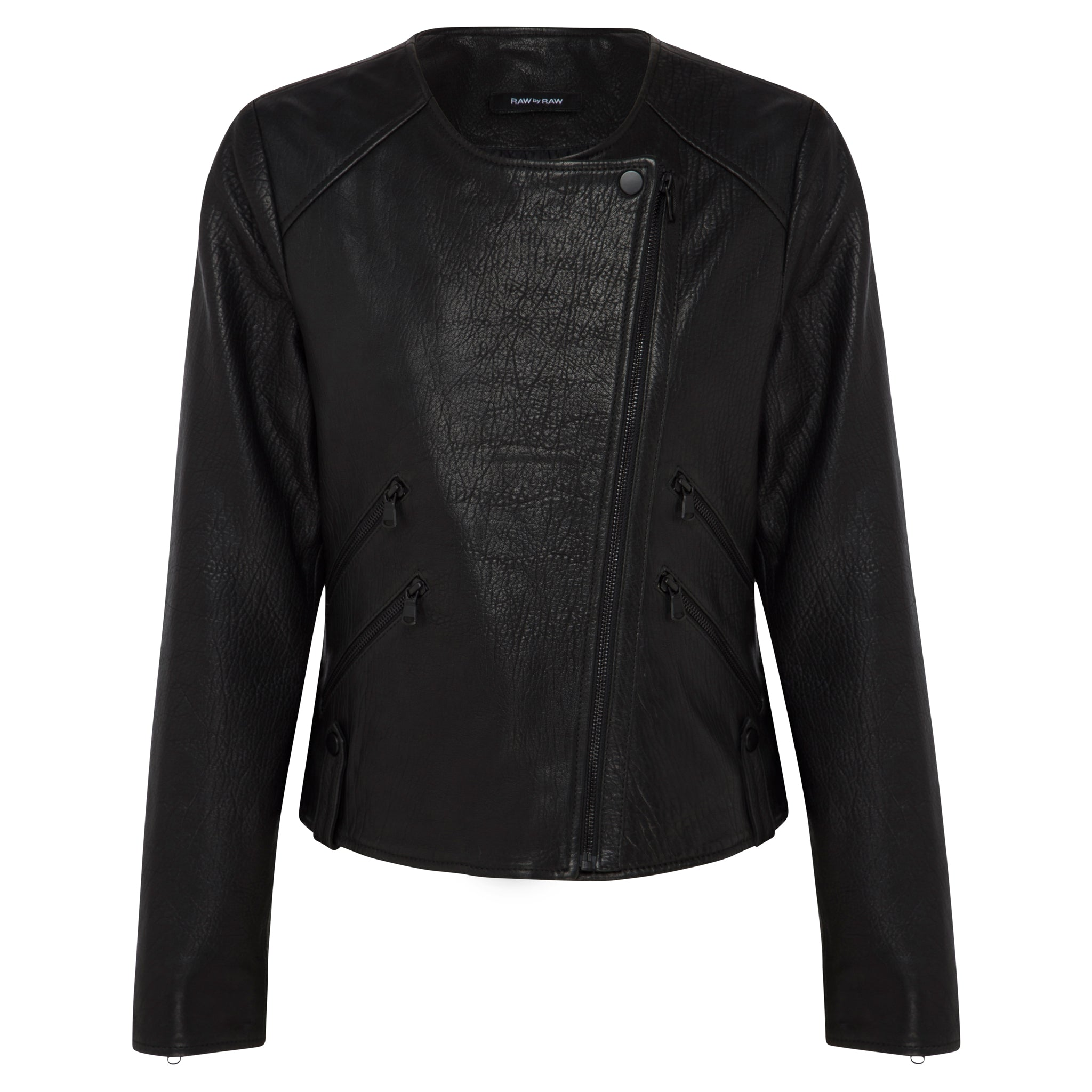 Fulton Leather Jacket - Jet Black