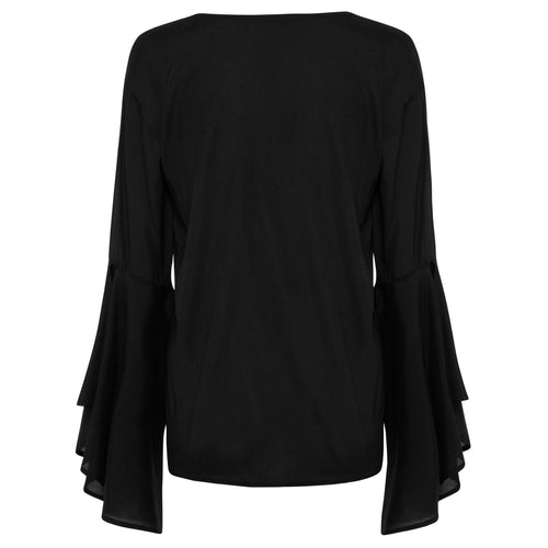 Grace Silk Top - Black