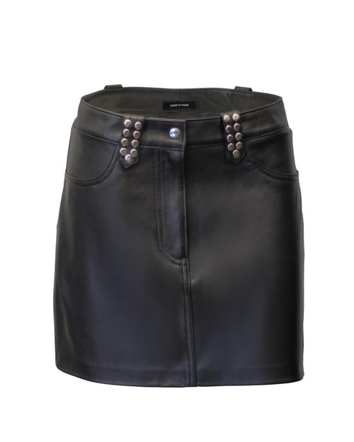 KC Leather Skirt - Jet Black