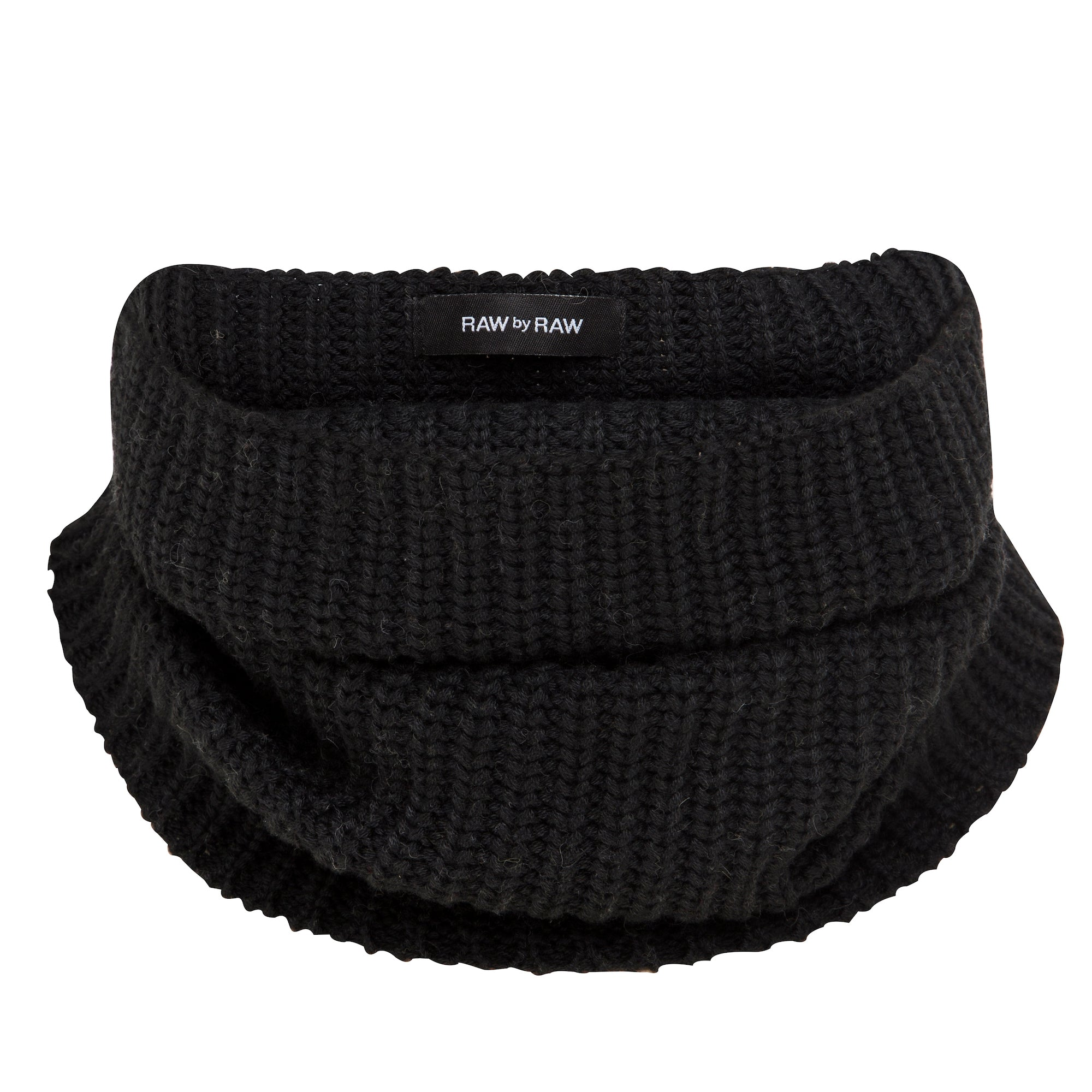 Mischa Ribbed Snood - Jet Black