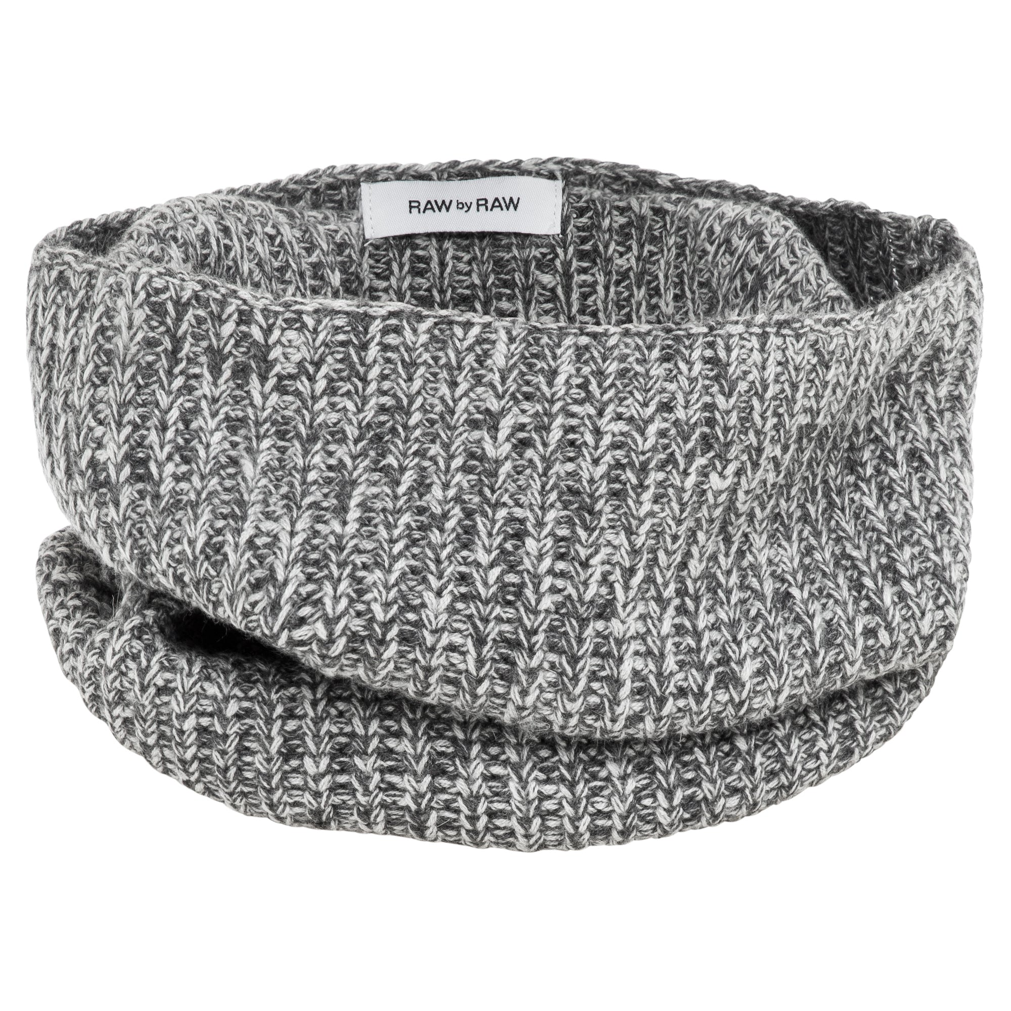 Mischa Ribbed Snood (Salt & Pepper)