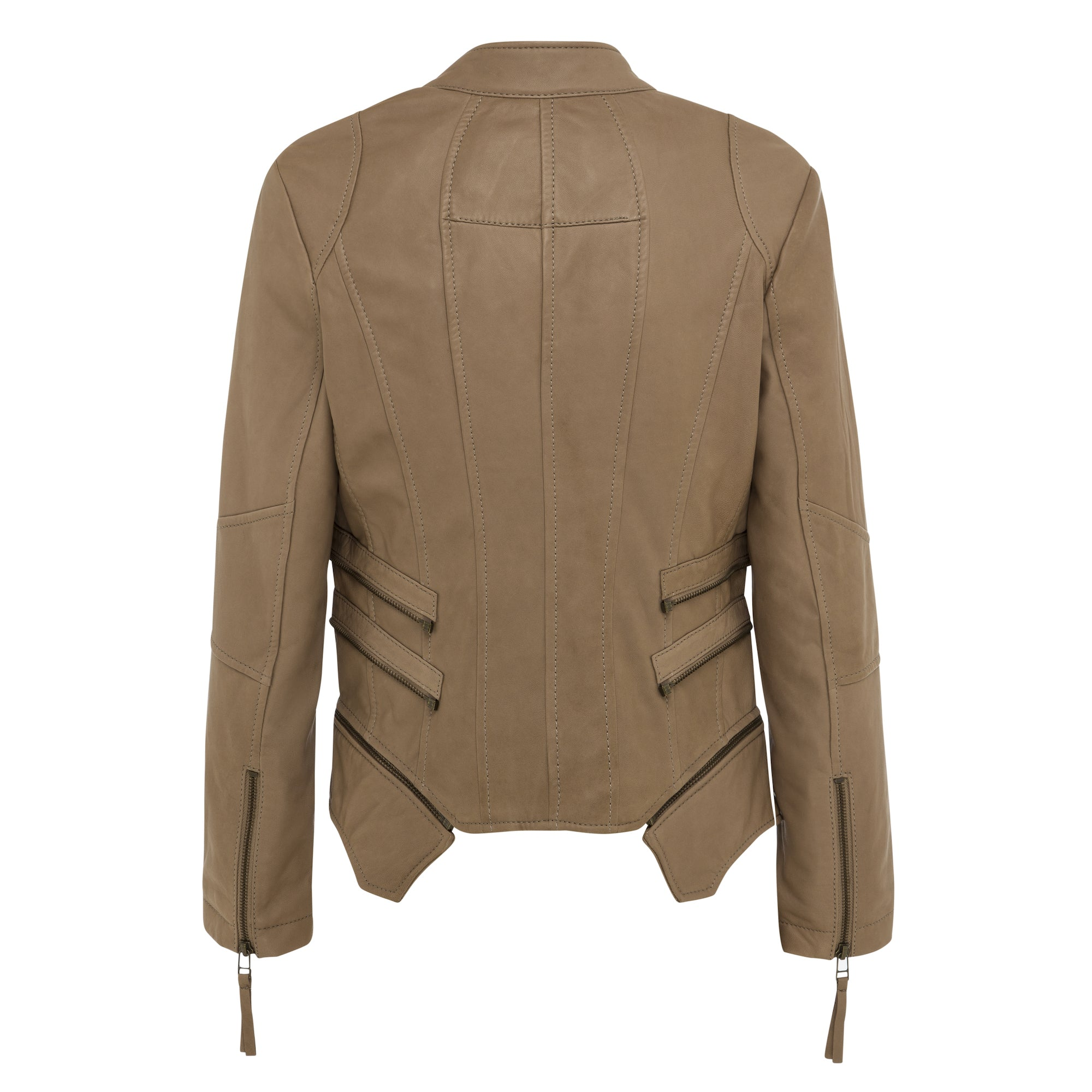 Mya leather jacket (latte colour)