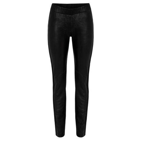 Dianne Leather Pant - Stone