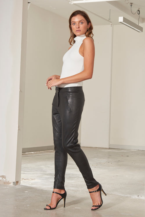 Morgan Stretch Leather Pant - Made in Australia