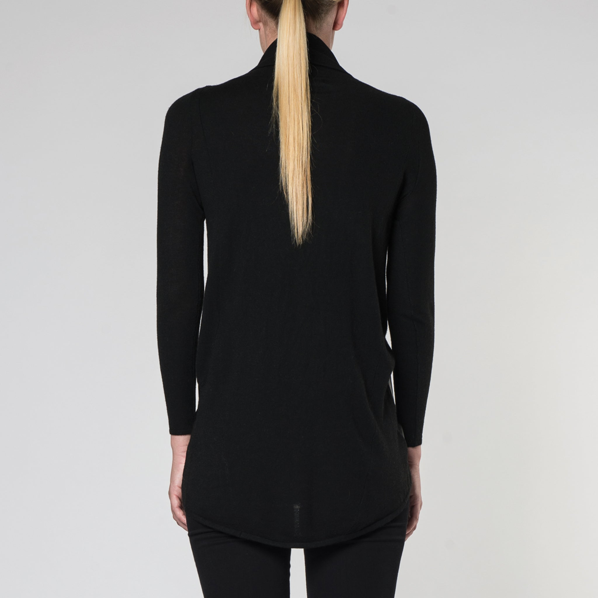 Suki Long Sleeve Knit and Leather Spliced Tuic Top