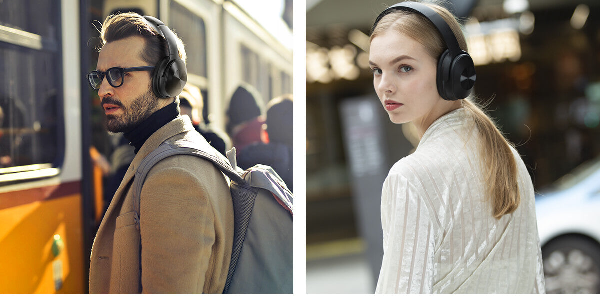 A9 Hybrid Active noise cancelling headphones