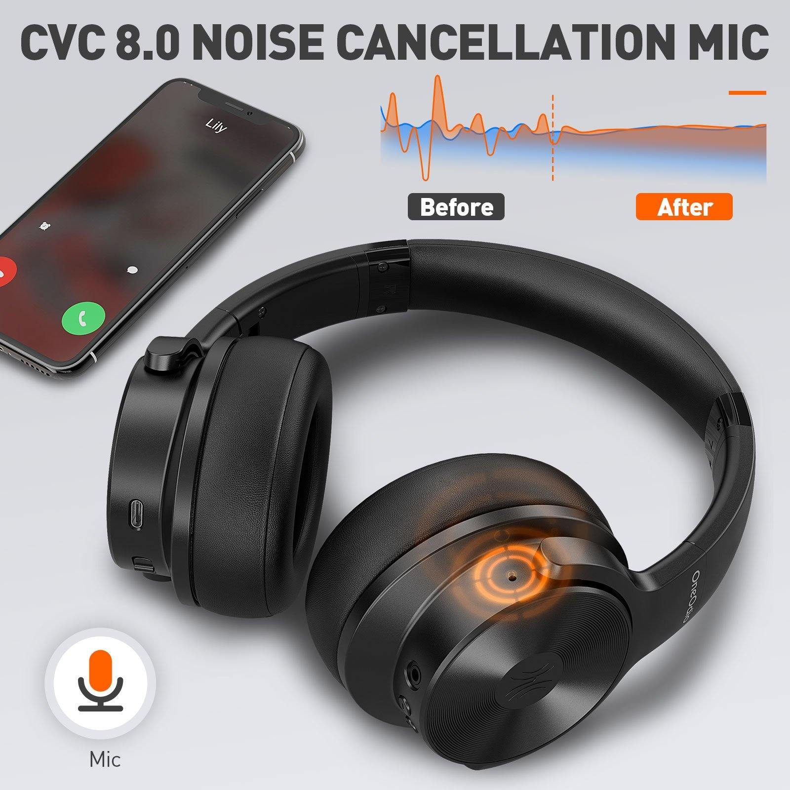 OneOdio A30 Hybrid Active Noise Cancelling Headphones - OneOdio