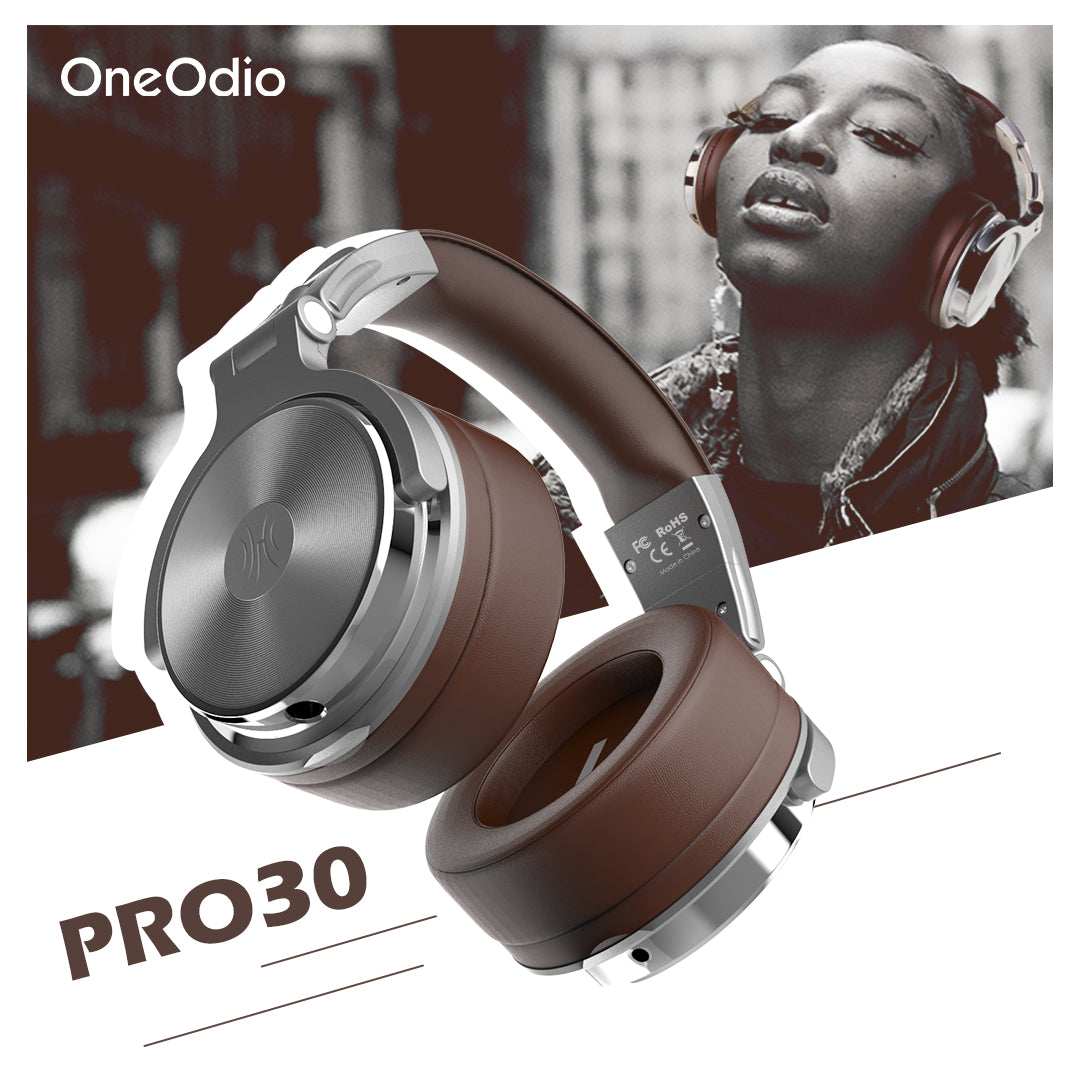 OneOdio® Pro-30 Studio Wired Headphones (Silver)
