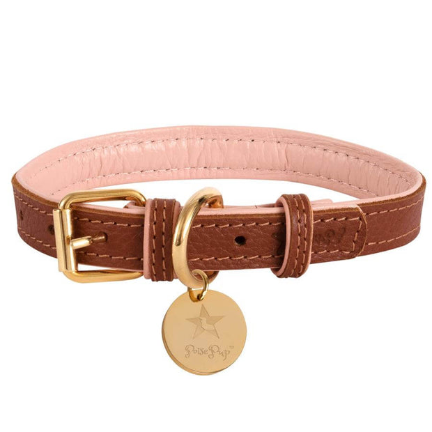 Bella Rose- Italian Leather Dog Collar