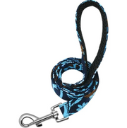 Personalized Blue Flower Dog Collar & Leash