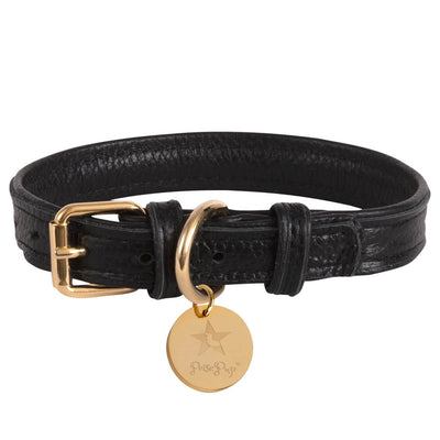 Dark Night- Italian Leather Dog Collar