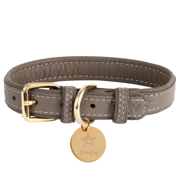 Desert Mint- Italian Leather Dog Collar