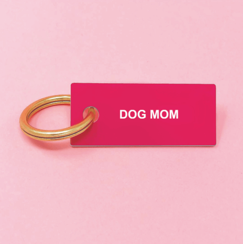 Red Dog Mom Keychain