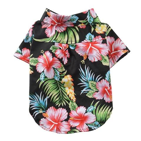 Aloha Hawaiian Hibiscus Fresh & Palm Island Pink Dog Shirt