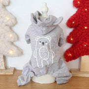 Little Bear Hoodie Dog Jumpsuit