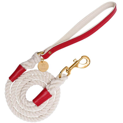 Melting Hearts- Italian Leather Leash