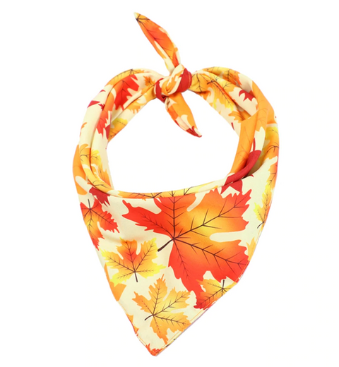 Fall Leaves Dog Bandana