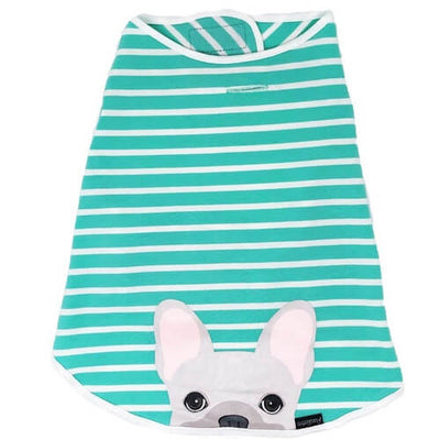 Teal Cream Frenchie Hypoallergenic Shirt