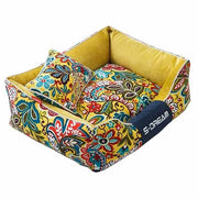 Yellow Sunrise Floral Oxford Bed